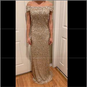 Adrianna Papell bridesmaids dress